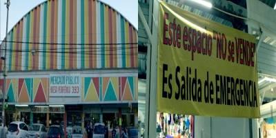 Alcaldía de Tlalpan vende salidas de emergencia de un mercado