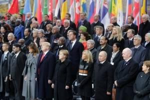 Mandatarios conmemoran armisticio en París