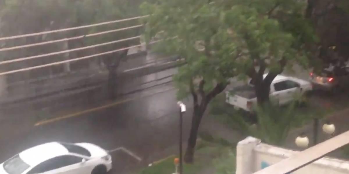 Cayó patio de comida de Florida Center: fuertes lluvias causan estragos en Santiago