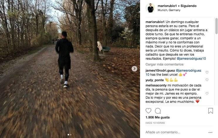 James Rodríguez después de no jugar en Borussia Dortmund VS Bayern München