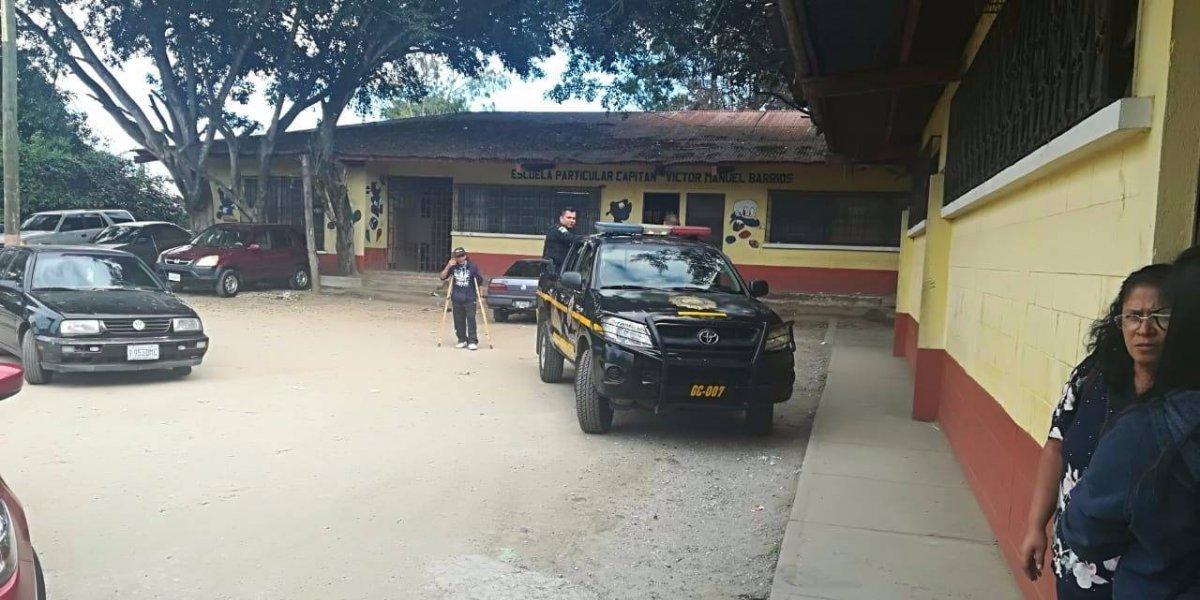 La Escuela Capitán Víctor en zona 7 que tenía instalado un set de filmación con orientación sexual