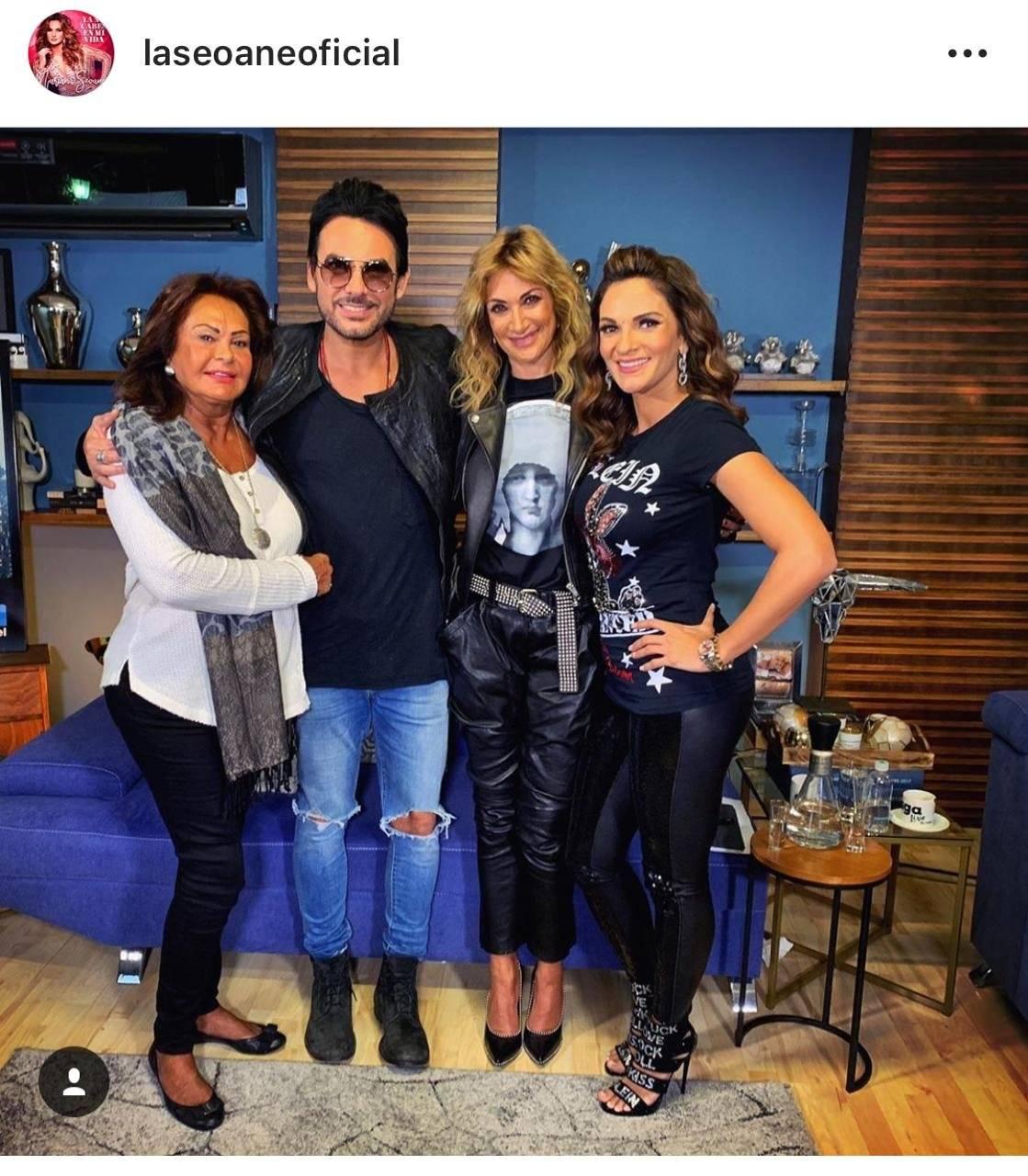 La actriz estuvo en el programa de Adela Micha. Foto: Instagram laseoaneoficial.