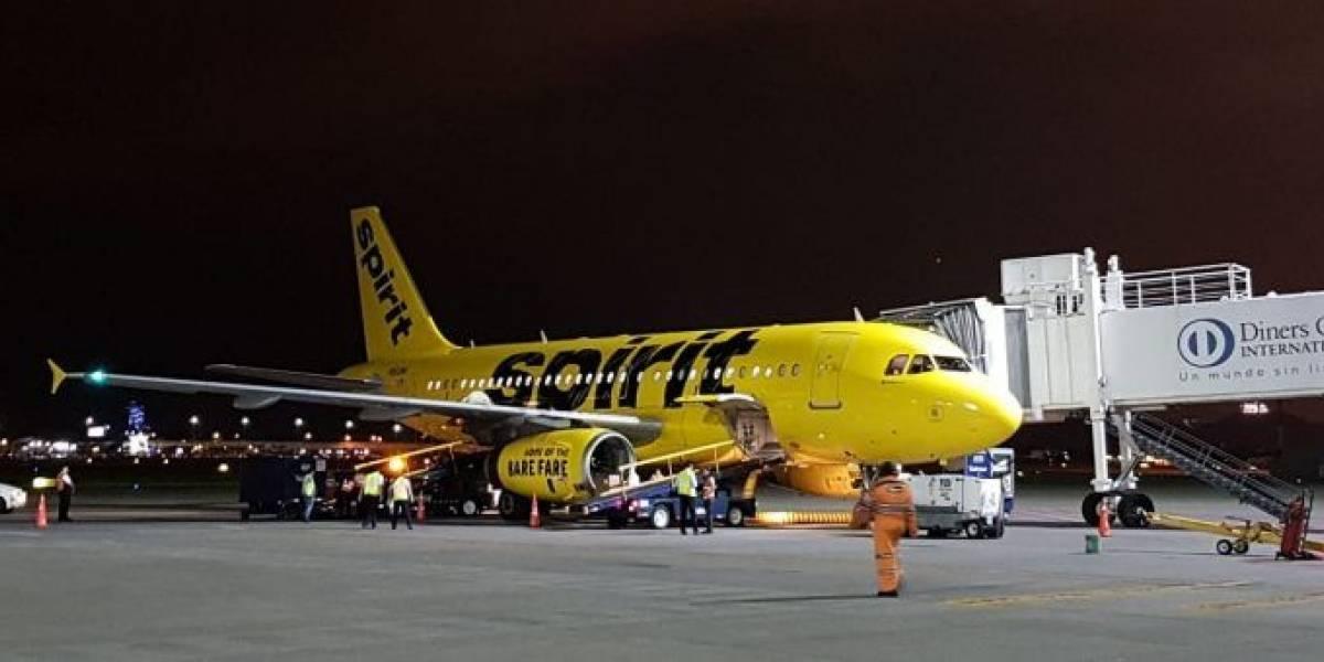Tamal descompuesto obligó a avión de Spirit a suspender vuelo a Estados Unidos