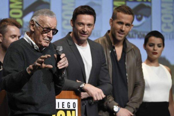 Stan Lee, Hugh Jackman y Ryan Reynolds