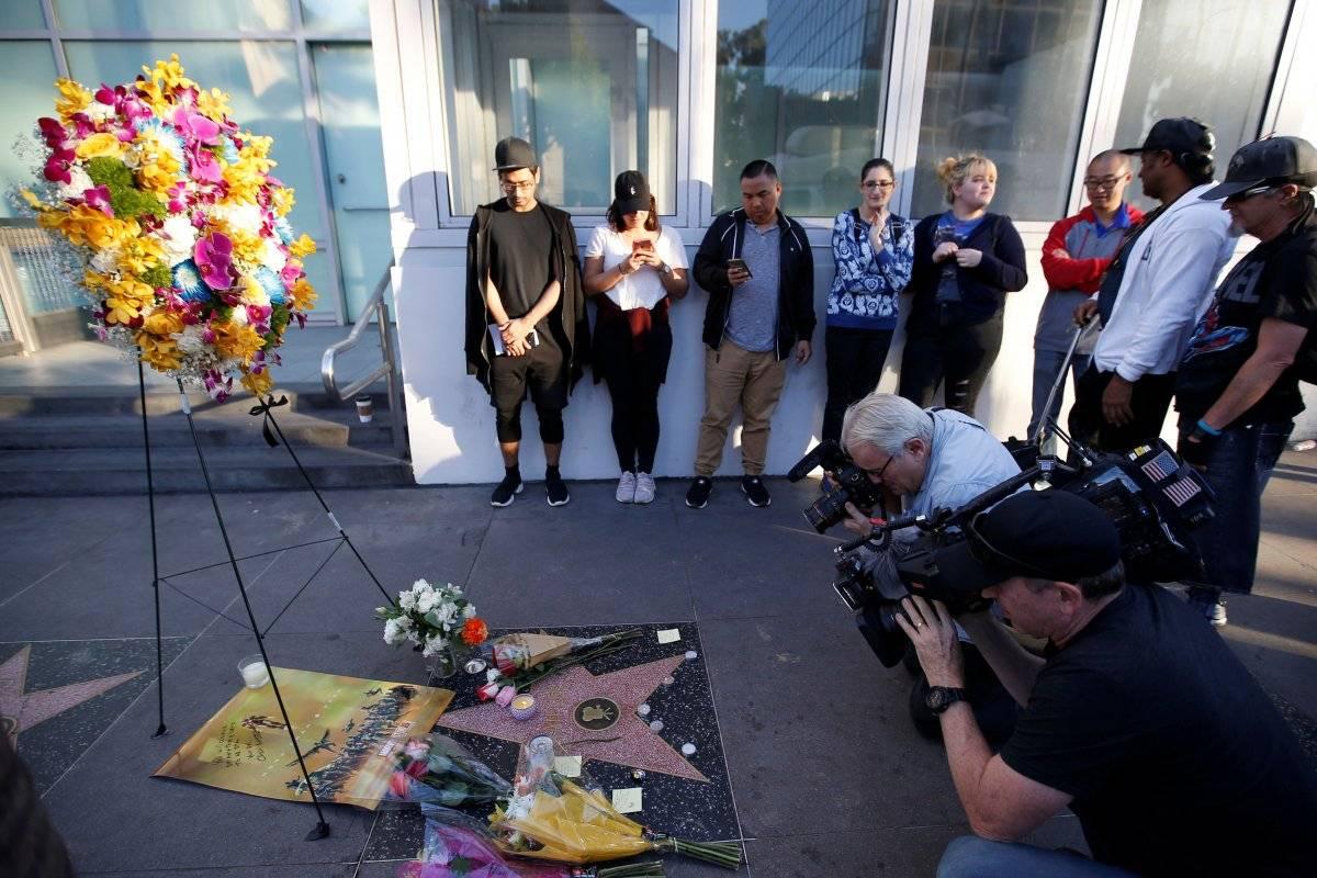 Fãs prestaram homenagens a Stan Lee na Calçada da Fama, em Hollywood Mario Anzuoni/Reuters