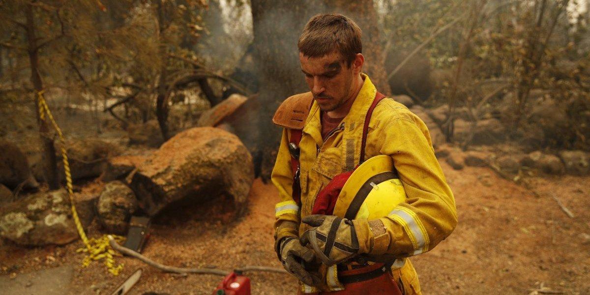 El arduo trabajo de los bomberos en California