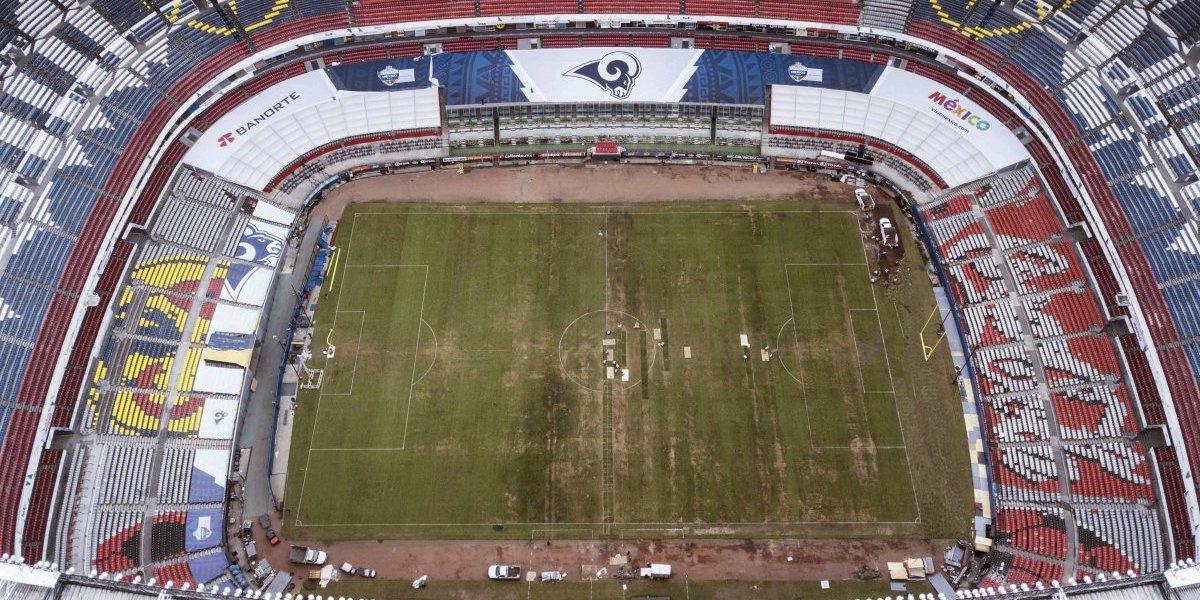El Estadio Azteca luce en pésimas condiciones