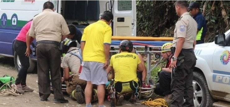 Turista resultó herida tras caer cerca de 50 metros en Santo Domingo de los Tsáchilas ECU 911