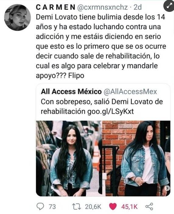 Demi Lovato/ Captura de pantalla Captura de pantalla