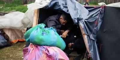 Campamento de venezolanos