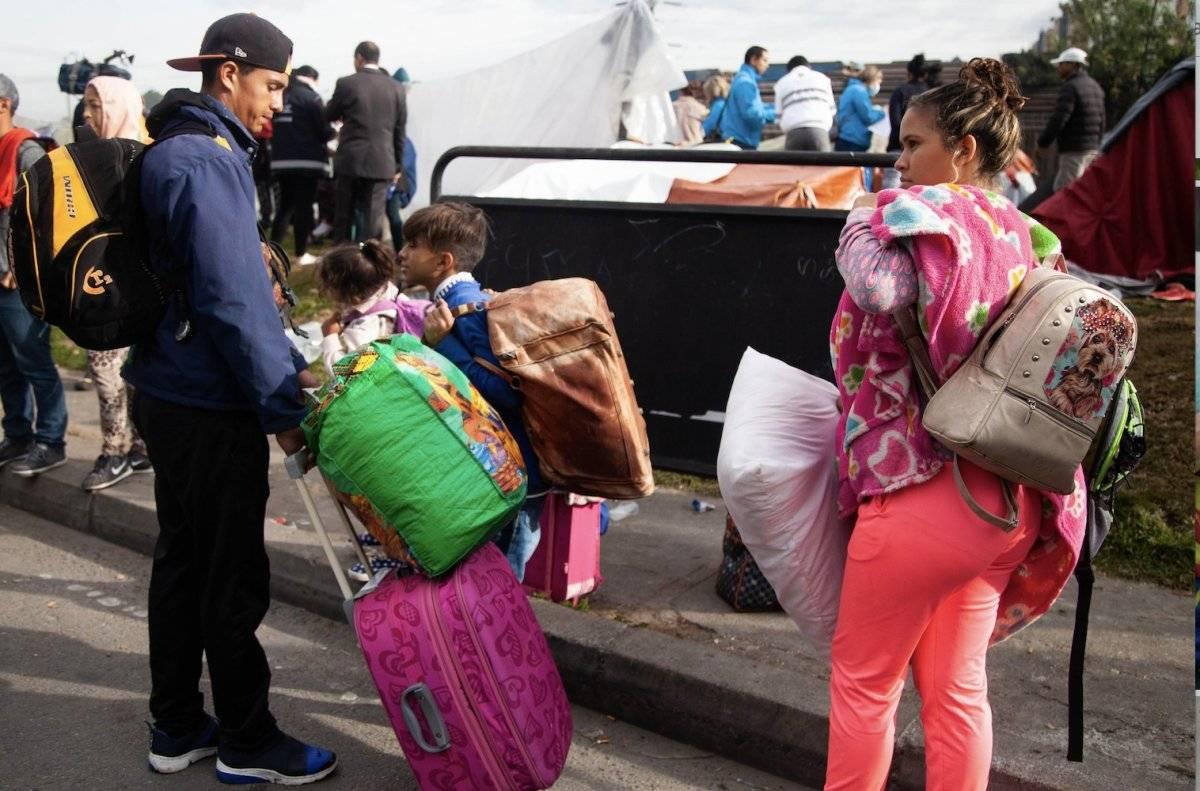 Campamento de venezolanos Cortesía