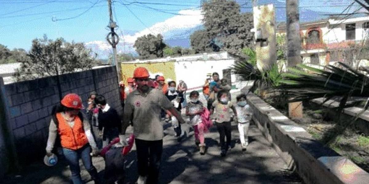 Conred llevó a cabo simulacro de erupción del volcán de Pacaya