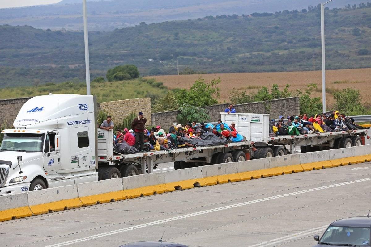 Arriba caravana migrante a Jalisco Foto: Cuartoscuro