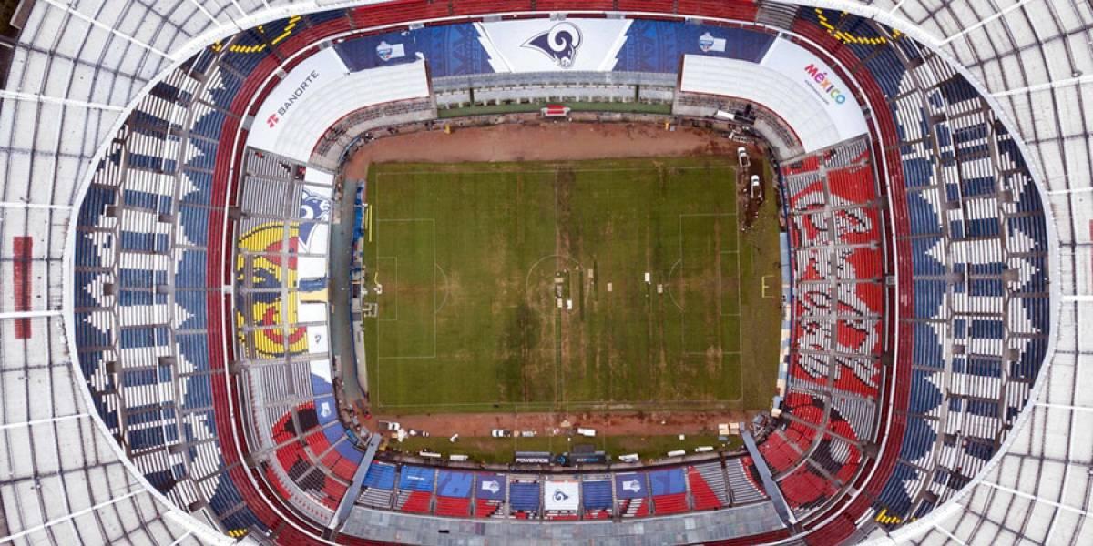 México pierde sede de partido de NFL por estado de la gramilla del estadio Azteca