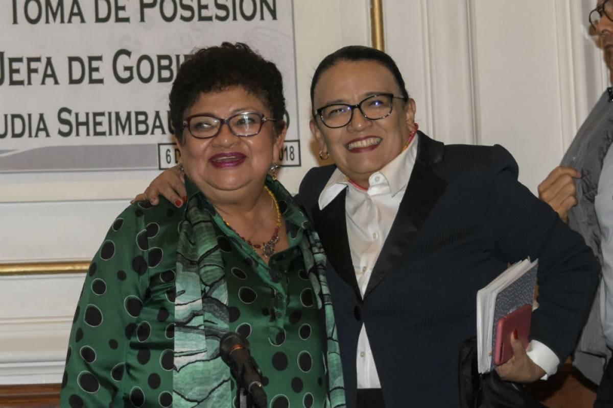 Ernestina Godoy y Rosa Icela Rodríguez Foto: Twitter @GPMorenaCdMex