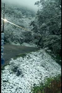 Montañas en Monterrey se cubren de blanco