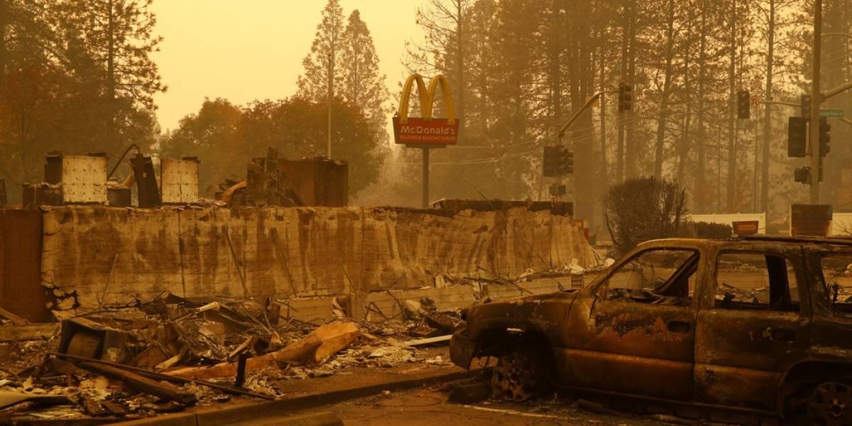 Suman 42 muertos por incendio en el norte de California