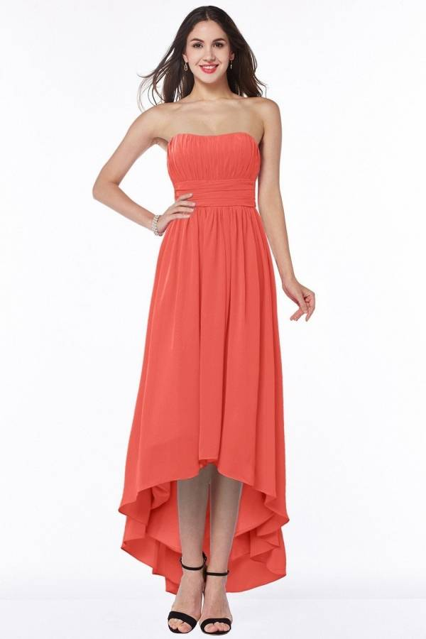 living coral dress