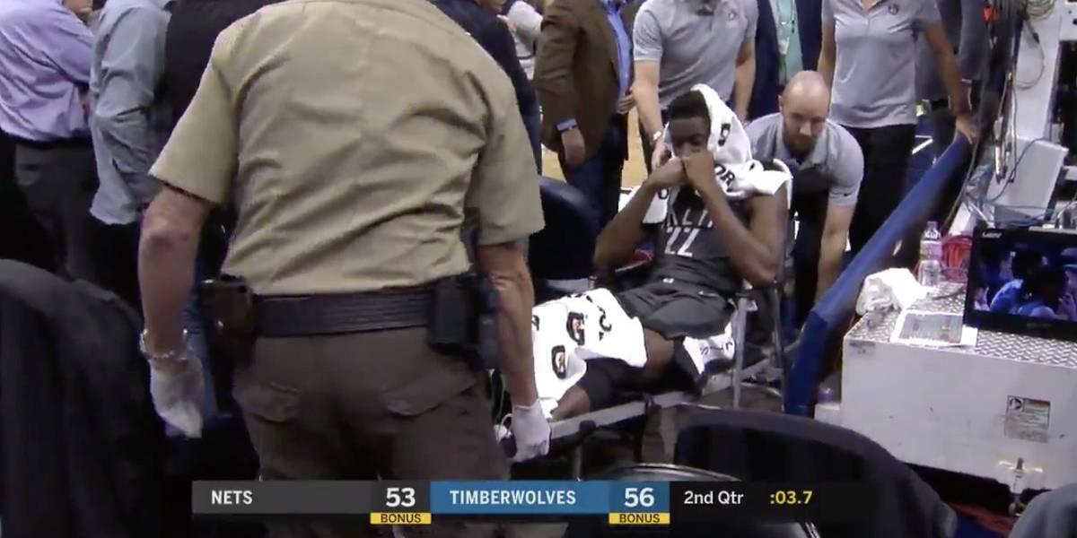 Escalofriante lesión en la NBA: Joven estrella de Brooklyn Nets se rompió la pierna en desgraciada acción