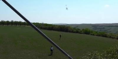 Dron roba bicicleta