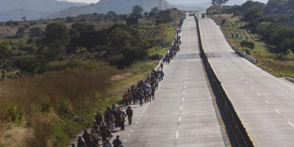 Nueva caravana de migrantes inicia en el sur de México