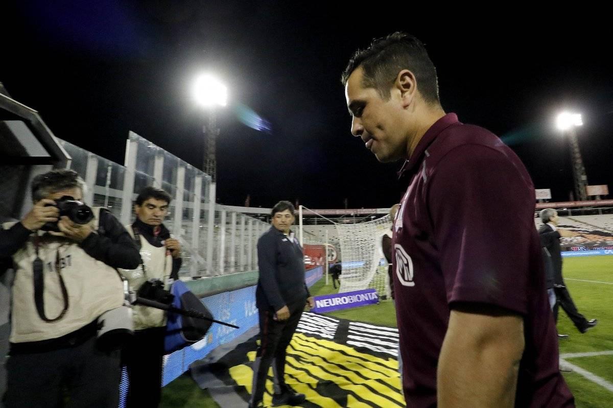 El DT está viviendo sus últimos minutos en Colo Colo / imagen: Agencia UNO