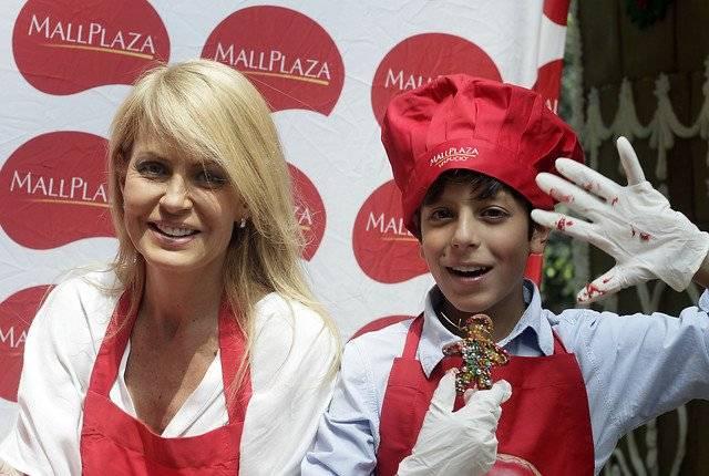 Cecilia Bolocco y Máximo Menem