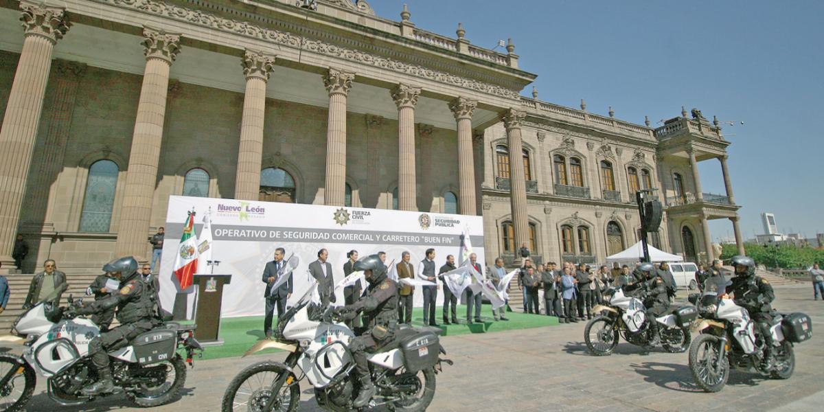 Custodiarán mil 500 policías el Buen Fin en Nuevo León