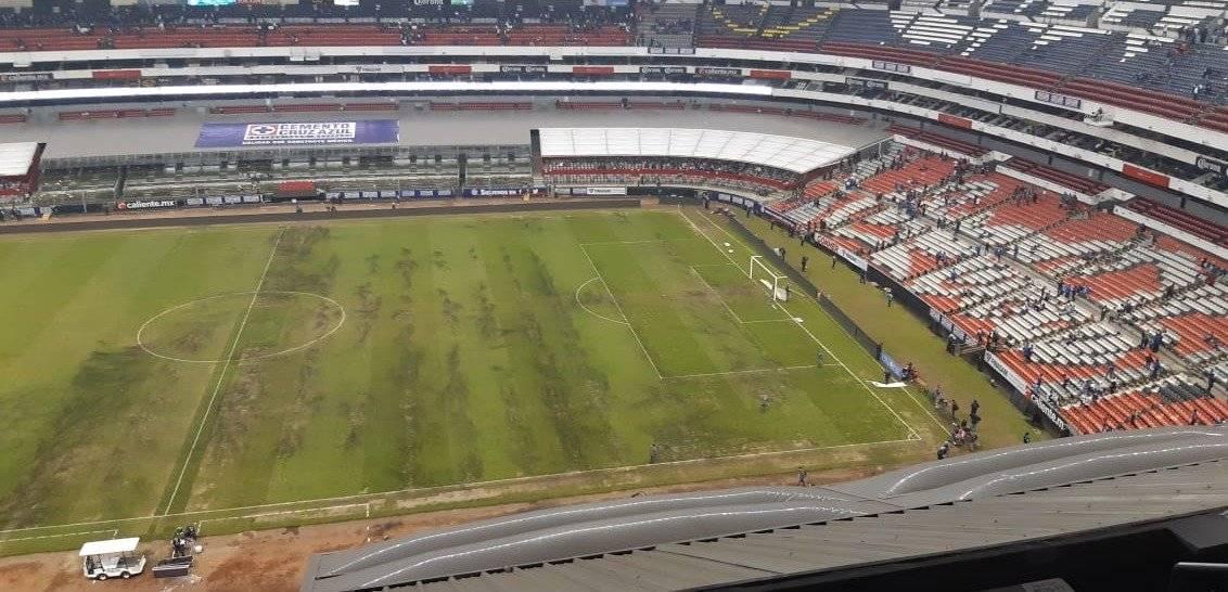 No se recuerda el césped del Azteca en tan pésimas condiciones |CÉSAR BECERRA