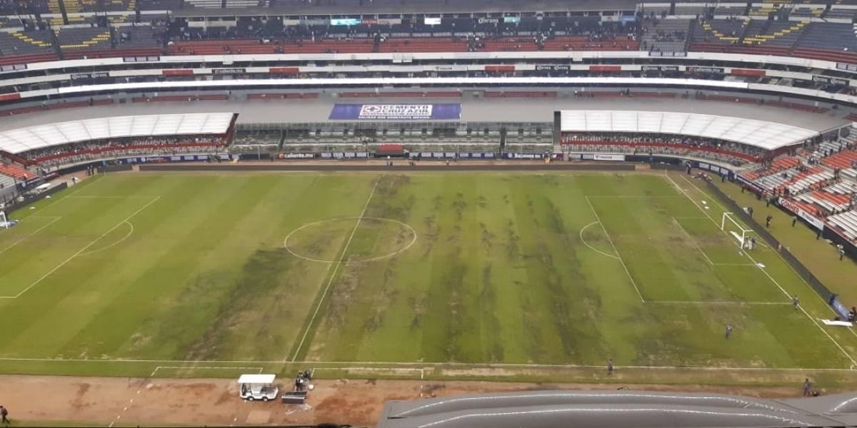 Afirman que se pondrá peor el césped del Estadio Azteca