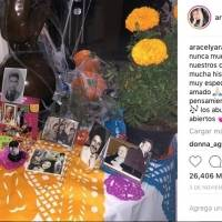 El reclamo de Luis Miguel a Aracely Arámbula por publicación de una foto en el Día de los Muertos