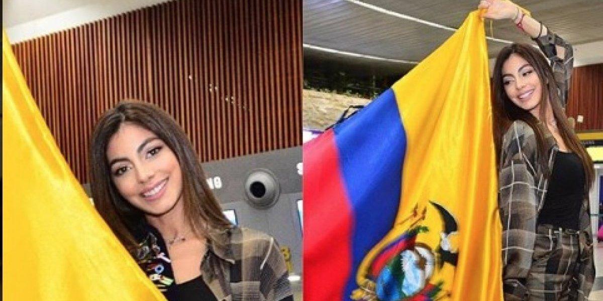 Así le despidieron a Miss Ecuador, Virginia Limongi, que viajó a Tailandia para el Miss Universo
