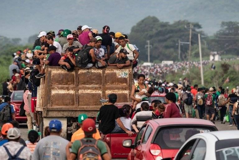 Caravana de migrantes centroamericano
