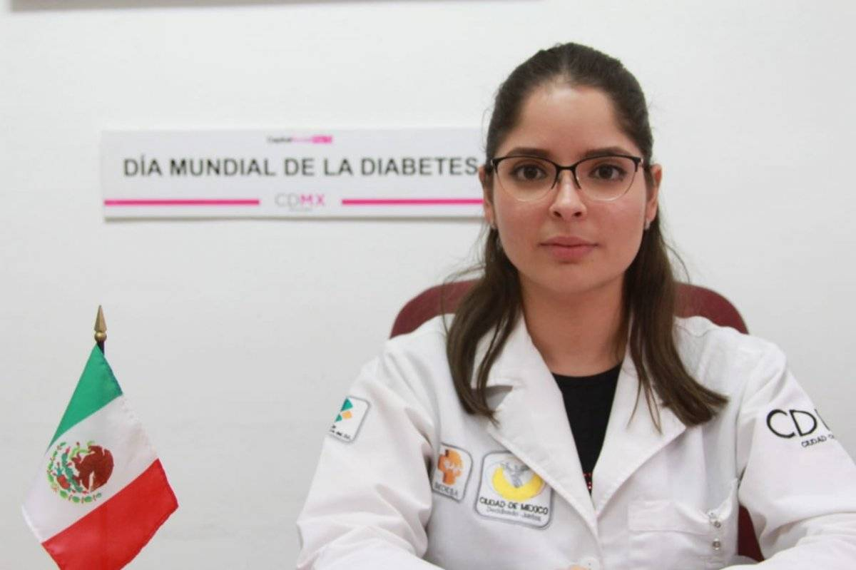 La doctora Dalia Elisa Araujo explicó que la Diabetes Mellitus es una enfermedad crónico-degenerativa. Cortesía.