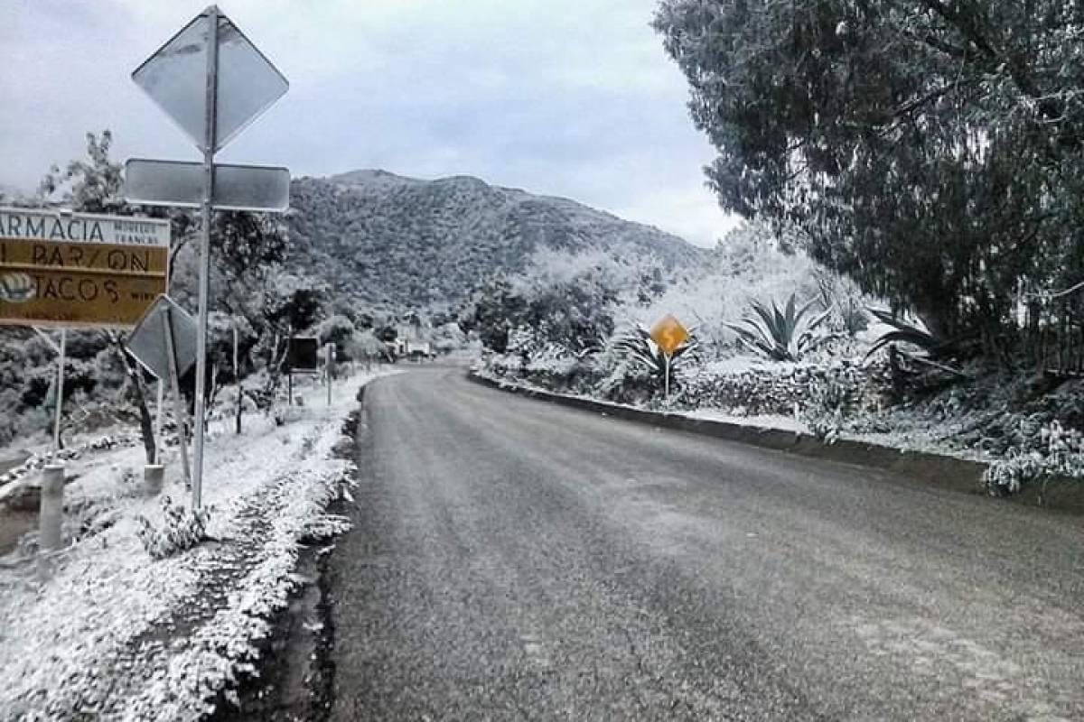 Bajas temperaturas en Tianguistengo, Hidalgo Foto: Twitter @HGarciaPadilla