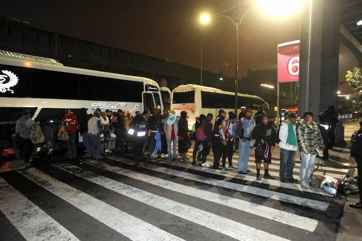 Llegada de migrantes a la CDMX Foto: Cuartoscuro