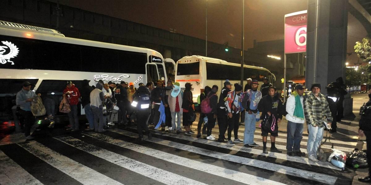 Llegan más de dos mil migrantes a la Ciudad de México