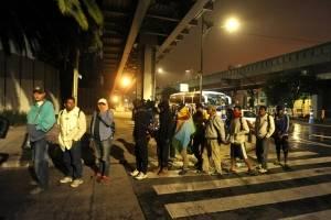 Llegada de migrantes a la CDMX