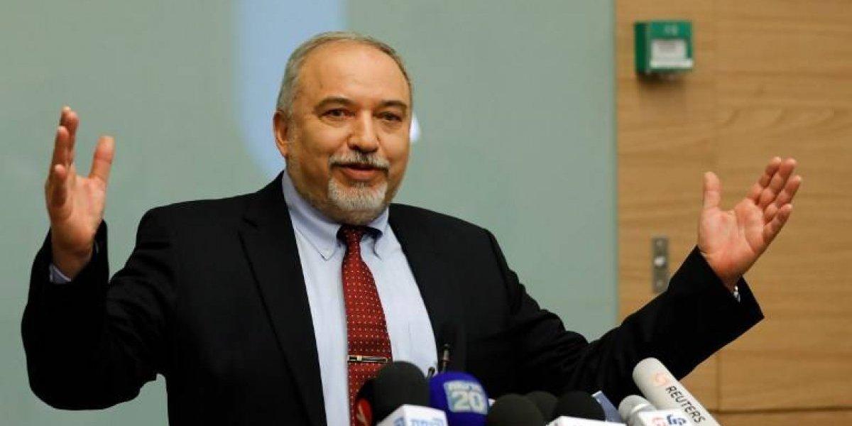 Renuncia el ministro de Defensa de Israel por tregua en la Franja de Gaza