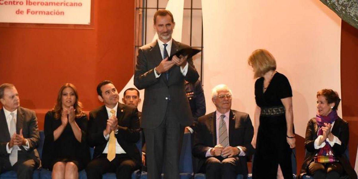 El Rey de España, Felipe VI, recibe las llaves de la ciudad de La Antigua Guatemala