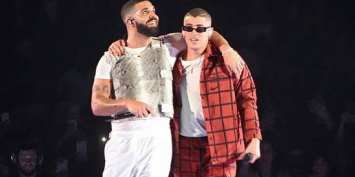 Bad Bunny canta en concierto de Drake