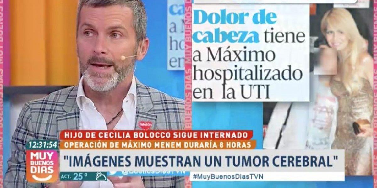 """Cristián Sánchez rompe el silencio por tumor cerebral de Máximo Menem Bolocco: """"Cecilia está destruída"""""""