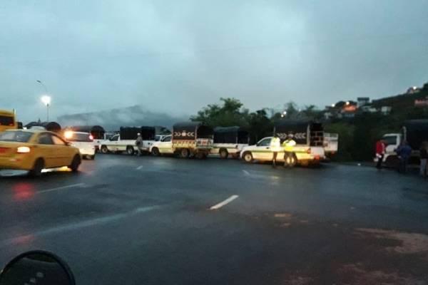 Paro de transportistas en Imbabura