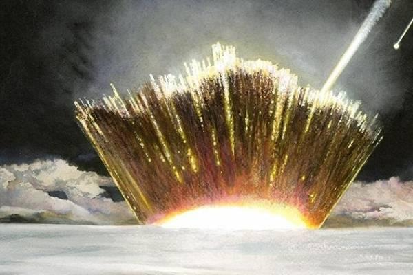 El cráter se formó cuando un meteorito de hierro de un kilómetro de ancho se estrelló en el norte de Groenlandia. Science Advance