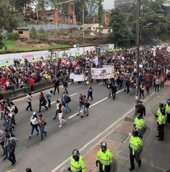 Siga en vivo las marchas en Bogotá el 15 de noviembre