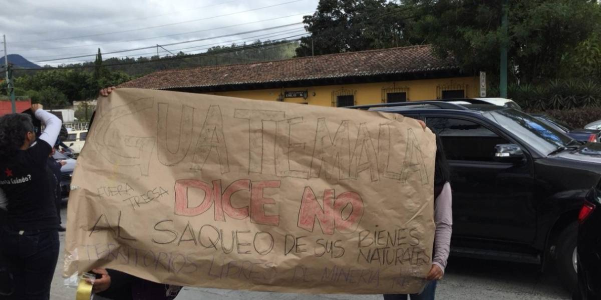 EN IMÁGENES. Manifestantes rechazan presencia de presidente Jimmy Morales en La Antigua