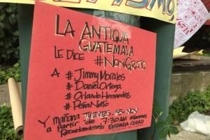 Carteles contra Jimmy Morales