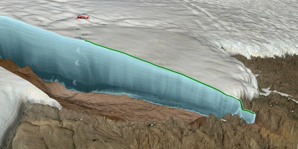 Un enorme cráter fue descubierto bajo una densa capa hielo: es de los más grandes del mundo