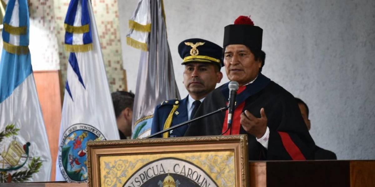 Evo Morales agradece reconocimiento de Usac con poderoso mensaje