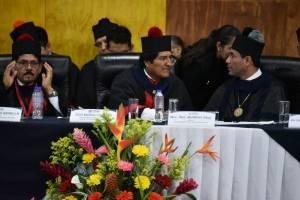 Evo Morales en la USAC